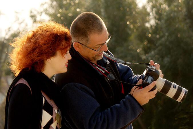 צלם ודוגמנית