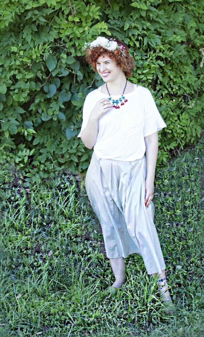 בגדים חגיגיים לשבועות - שמלה לבנה