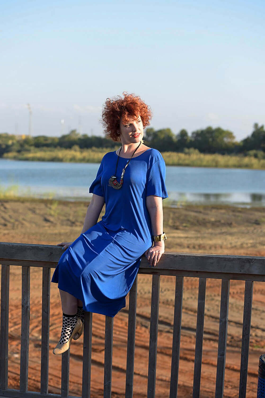 שמלת מקסי כחולה