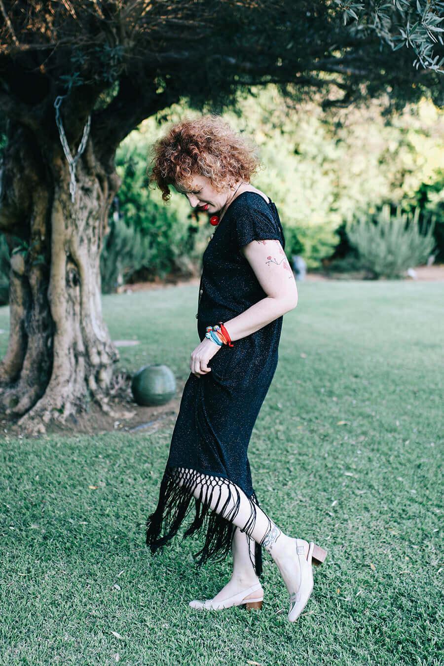 שמלת צ'רלסטון שחורה