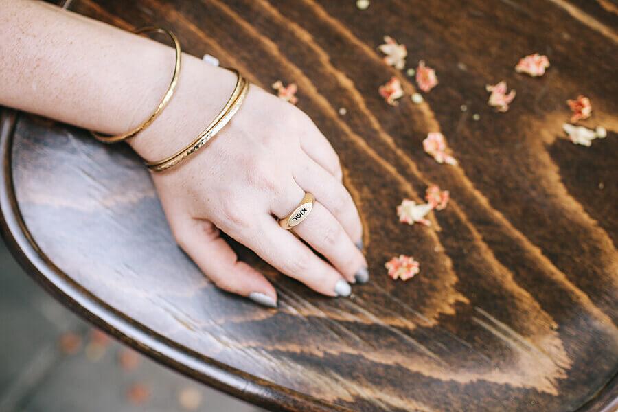 טבעת בחריטה אישית