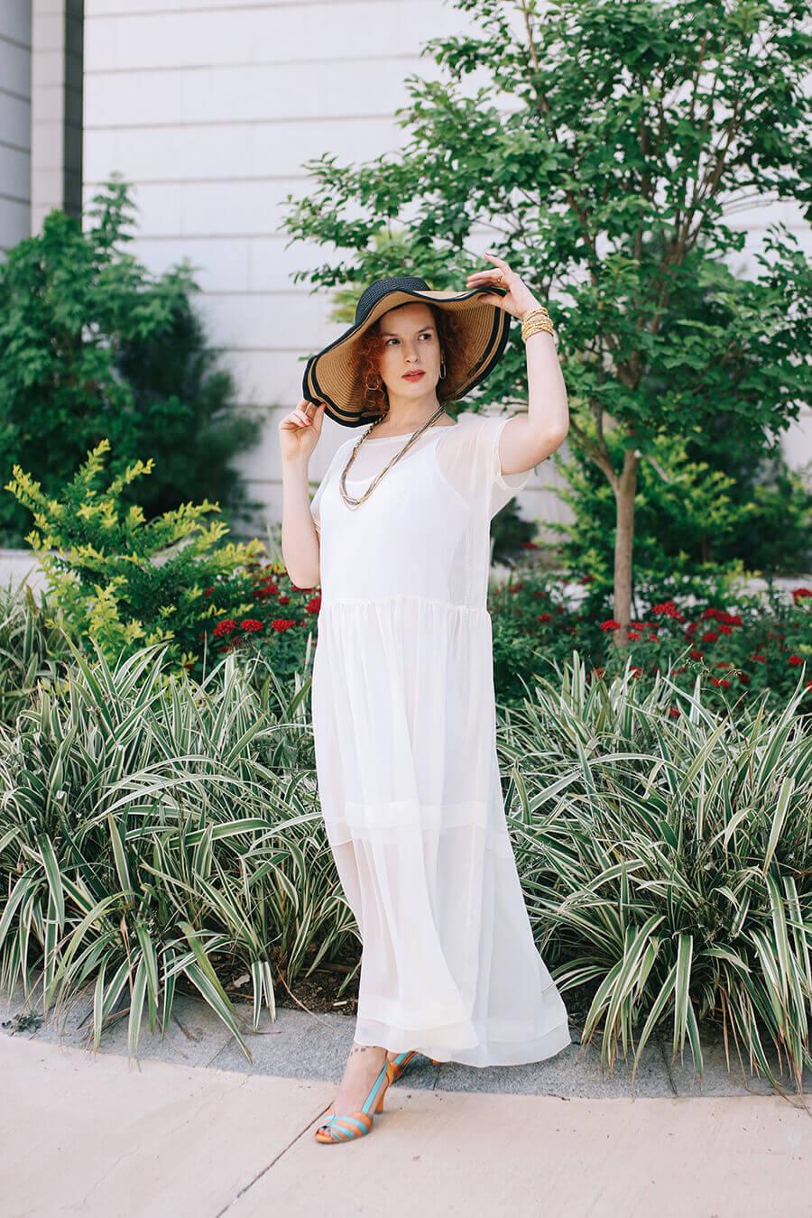 שמלת בוהו לבנה
