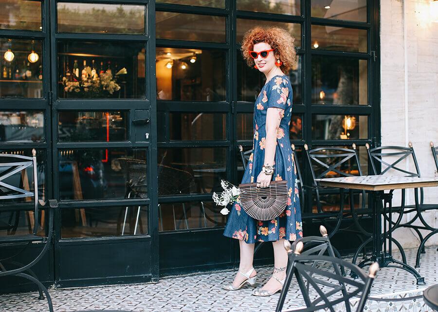 שמלת ג'ינס של המעצב אסף פלג