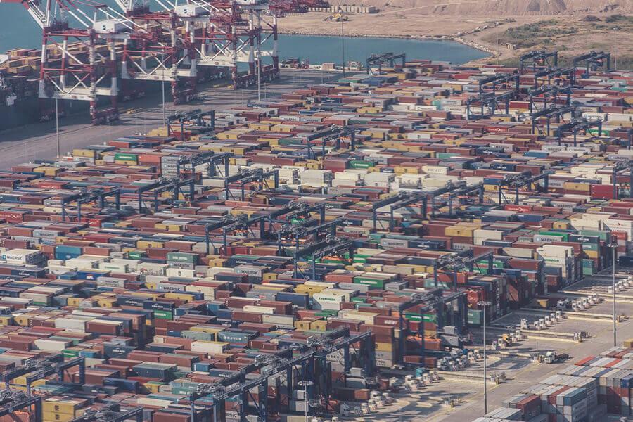 נמל ברצלונה מלמעלה