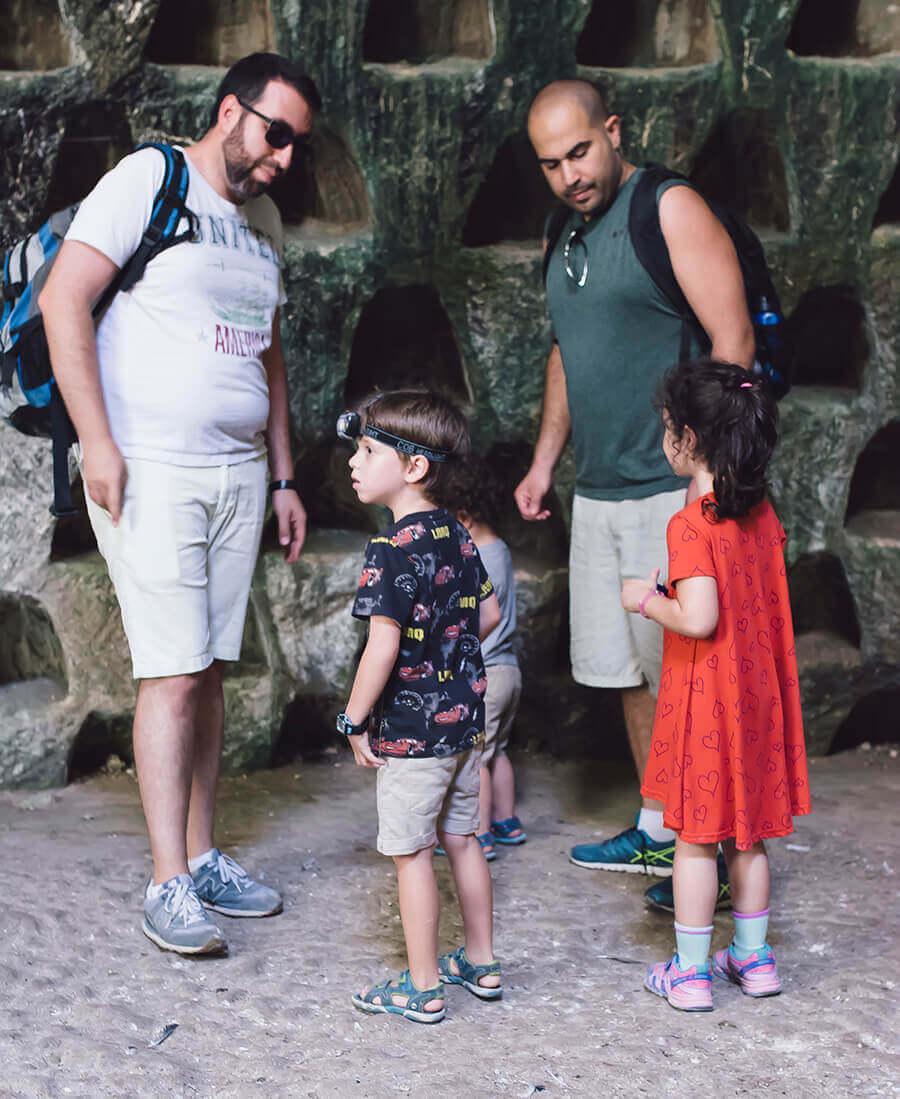 חוויה לכל המשפחה גן לאומי בית גוברין