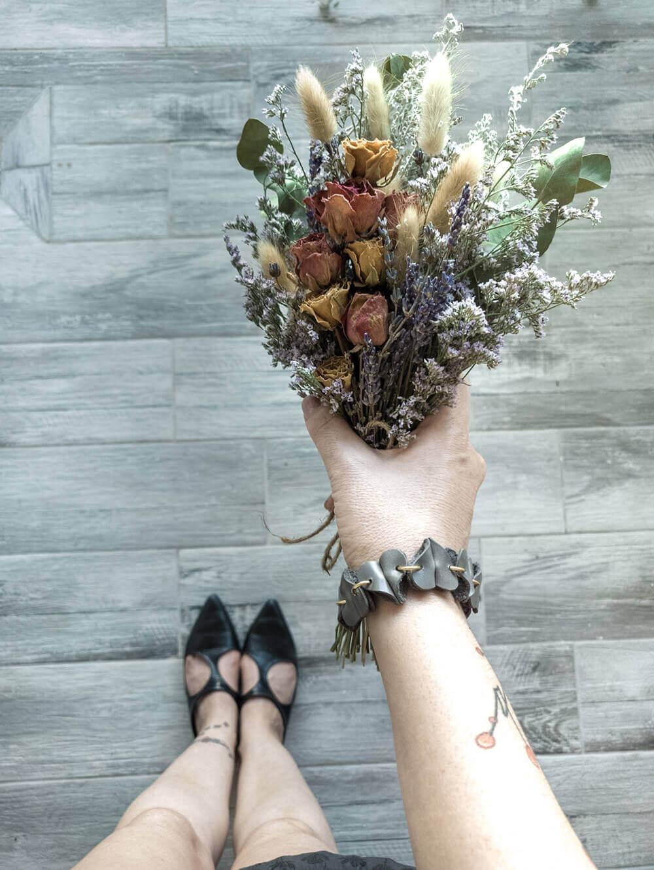 זר פרחים מיובשים